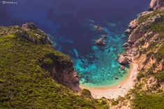 Blue lagoon hidden beach near Liapades, Corfu, Greece ✯ ωнιмѕу ѕαη∂у