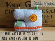 Deshilachado: Tutorial: máquina de coser de tela / Tutorial: fabric sewing machine