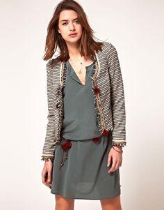 ASOS Maison Scotch Jacket with Pom Pom Detail $365.36