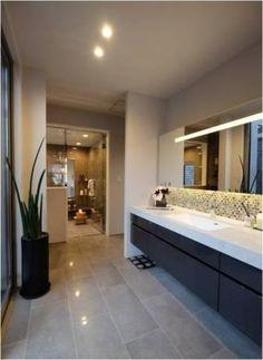 サニタリー Bathroom Goals, Laundry In Bathroom, Washroom, Master Bathroom, Black Tub, Bathroom Flooring, Bathroom Inspiration, Bathroom Interior, Corner Bathtub