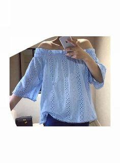 AMANDA Off-Shoulder Mid-Sleeved Top @ shopjessicabuurman.com