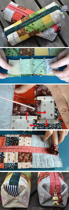 Patchwork Pencil Case  check out our step by step photo tutorial.  http://www.handmadiya.com/2016/04/patchwork-pencil-case.html