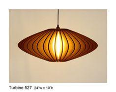 Pendant Lamp: Turbine 527 UNASSEMBLED -- laser cut cardboard lamp