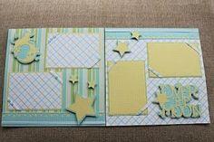 Cricut - baby scrapbook layout