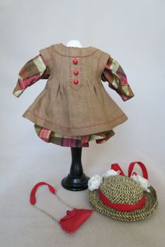 LSDS by Arlene Hayes Silk Red Plaid with Linen Pinafore House of BLEUS | eBay