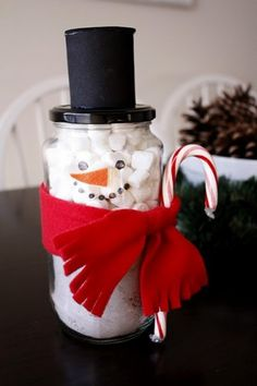 Mom's project -- Snowman Jar