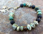 Beaded Boho Bracelet, Hand knotted semi precious beads, Boho Chic layering bracelet, green stacking bracelet, gemstone hippie beach bracelet