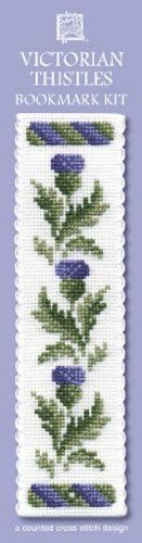 Textile Heritage Victorian Thistles Counted Cross Stitch Bookmark Kit