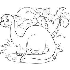 Dinosaur Coloring Pages - From the sweet looking Triceratops to the ...