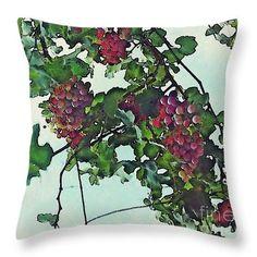 Spanish Grapes Throw Pillow  http://pixels.com/products/spanish-grapes-sarah-loft-throw-pillow-14..  #throwpillows #sarahloft #photography #nature #fruit #grapes