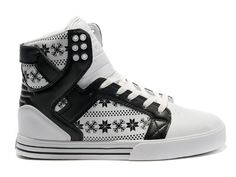 a74558cb087 Supra Skytop White Black Snowflake For Sale High Tops For Men