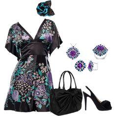 """Kimono Dress"" by mmessenger on Polyvore"