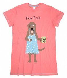 Sleepshirt  Dog Tired Women s Sleep Shirts   Nightgowns 6efe1ac4a