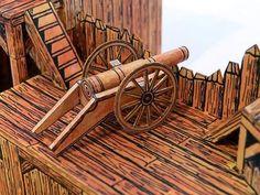 Forte Apache, Game Terrain, Lucky Luke, Lone Ranger, Red Dog, Medieval Castle, Red Bricks, Old Models, Paper Models
