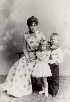 Queen Marie with Carol and Elisabeth