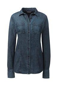 Navy Core piece - instead of Denim blazer.  Women's Long Sleeve Denim Shirt