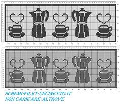 curtain valance board caffettiea cups and filet crochet pattern free