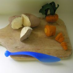 Chop Chop- Cut Apart Felt Food Carrot, Free Pattern & Tutorial