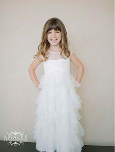 422a5240e5 Designer Amalee Girls Dress Style FG109- Soft Net Dress with Ruffles
