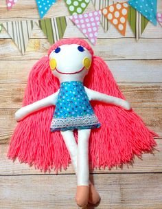 Here is Matildasworld15 rag doll, an adorable treat for girls.     Even older girls love to play with them.  ******************************************************************************  My dolls are handmade from high quality materials, meticulously and carefully sewn, every small detail matters! Featuring hand embriodered and applied details. it's made of beautiful cotton fabric, high quality felt and stuffed with anti-allergic fiber filling…