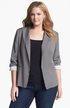 DKNYC Shawl Collar Blazer (Plus Size) available at #Nordstrom