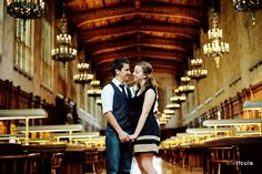 The Law Library at UM - melanie + mark engagement session