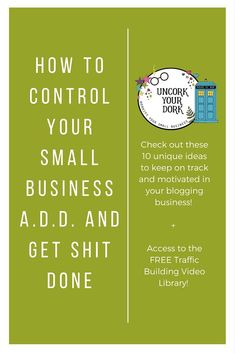 Check out these 10 ideas to keep on track and stay motivated every day in your small business and blogging routine! Click now to ALSO get access to the free Traffic Building Video Library!
