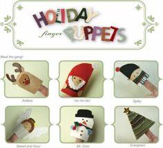 Des marionnettes à doigts de Noël à imprimer | La cabane à idées