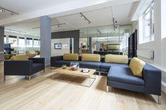 Zeus modular sofa and Ortega coffee table