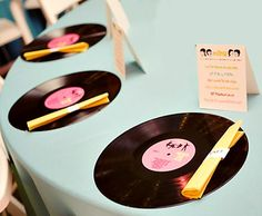1950's table decorations | Rock n Roll Décor – cut out large musical notes from black ...