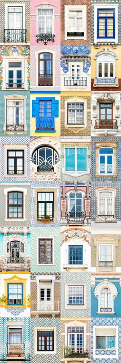 I Travelled All Over Portugal To Photograph Windows, And Captured More Than 3200 Of Them Aveiro.I Travelled All Over Portugal To Photograph Windows, And Captured More Than 3200 Of Them Window Design, Door Design, House Design, Facade Design, Goncalves, Window View, Windows And Doors, Architecture Details, Beautiful Homes