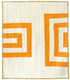 Graphic Modern Baby Quilt - Orange Creamsicle on Etsy, $135.00