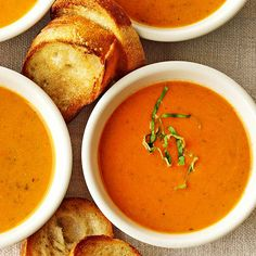 Roasted Garlic and Red Sweet Pepper Soup from @Gayle Roberts Merry Homes and Gardens