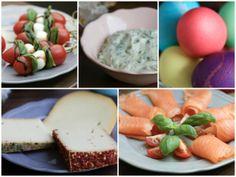 Bärlauch-Frischkäse Tomaten-Mozzarella-Spieße Käse Lachs Eier