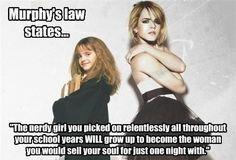 Murphy's Law -- boys, take note :P
