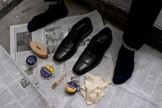 https://www.bespokepost.com/the-post/how-to-shine-your-shoes  Decent starter instructions. Still gonna stick with the Meltonian for now, not this stuff.
