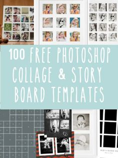 Free Photoshop Collage and Storyboard Templates!