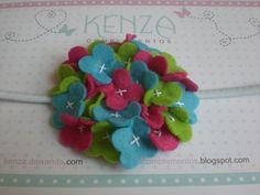 Diademas - Diadema hidragea colores ref:012 - hecho a mano por KENZA-COMPLEMENTOS en DaWanda