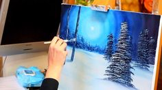 Paint with Maz - Silent Night - Full Step by Step Tutorial--Suitable for Beginners