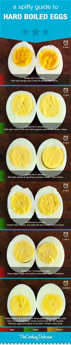 Hard boiled eggs info-graph