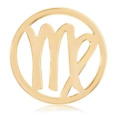 """Nikki Lissoni Virgo Zodiac Coin - Medium Gold-Tone -  Show your sun sign in style with this Nikki Lissoni medium gold-tone Virgo Zodiac coin insert for interchangeable, personalized fashion. Fits into the Nikki Lissoni medium (1-1/2"""") coin holder pendants. (Buying as a gift and know her birthday but not her sign? Virgo is August 23 - September 22.) #NikkiLissoni #jewelry #zodiacsign #zodiac"""