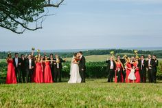 The Bridal Party wearing shades at Trump Winery at Katelyn & Ross's Wedding at Trump Grand Hall on Borrowed & Blue.  Photo Credit: William Walker Photography #TrumpWedding #WineryWedding