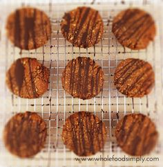 Double Choc Cookies. Simple, delicious and free from gluten, grains, dairy, egg and refined sugar. Enjoy.