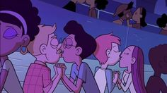"""Disney cartoon, Star vs. the Forces of Evil, featured same-sex kiss: """"...featured the subtle moment in an episode this week as part of its third season...The moment is captured in a musical number, 'Just Friends', in which Star is suddenly surrounded by couples during a slow song. A number of the couples are shown enjoying a quick peck, including at least one same-sex couple who are quietly featured for a split-second."""" Disney Channel relaxing its unofficial ban on the LGBTI+ community."""