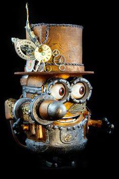- Steampunk Minion by Dame Berta @misshumblepie OMG, Morgan, look! Steampunk Minion!