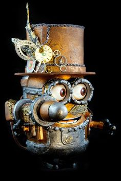 - Steampunk Minion by Dame Berta @misshumblepie OMG, Morgan, look! Steampunk Minion!