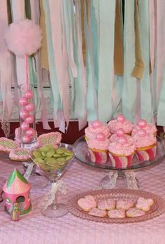 Sugar Plum Fairy birthday party!  See more party planning ideas at CatchMyParty.com!