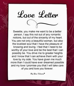 The best love letter to my girlfriend