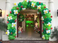 Balloon arch at a Strawberry Shortcake birthday party! See more party ideas at CatchMyParty.com!