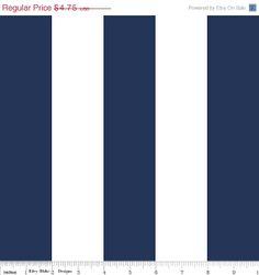 SALE Navy Stripe Fabric - 2 inch Stripe Fabric - Riley Blake Designs - HALF YARD